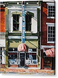 Restaurant Acrylic Print by Thomas Akers