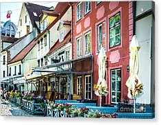 Restaurants In The Old Town Of Riga Acrylic Print by RicardMN Photography