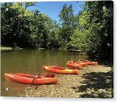 Resting Kayaks Acrylic Print