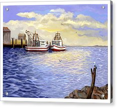 Acrylic Print featuring the painting Resting Nets by Sena Wilson