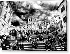 Resting On The Spanish Steps Acrylic Print by John Rizzuto
