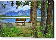 Acrylic Print featuring the photograph Resting Place At Lake Annette by Tara Turner