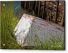 Resting Rowboat Acrylic Print by Susan Cole Kelly