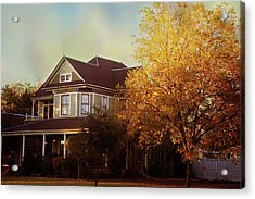 Acrylic Print featuring the photograph Restored Queen Anne Victorian by Toni Hopper
