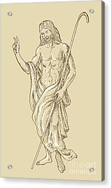 Resurrected Jesus Christ Acrylic Print by Aloysius Patrimonio