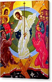 Resurrection And The Cross Acrylic Print by Munir Alawi