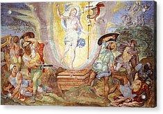 Resurrection Of Christ Acrylic Print by Hendrick van den Broeck