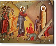 Acrylic Print featuring the painting Resurrection Of Lazarus by Munir Alawi