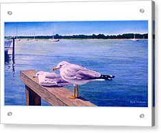 Retired Couple Acrylic Print by Bob Nolin