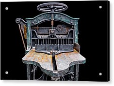 Retired Table Saw Acrylic Print by Joseph Sassone