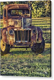 Retired Wrecker Acrylic Print by Linda Blair