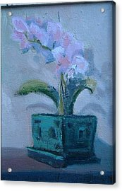 Retirement Orchid...sold Acrylic Print by Bryan Alexander
