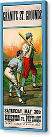 Retro Baseball Game Ad 1885 C Acrylic Print by Padre Art