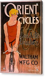 Acrylic Print featuring the photograph Retro Bicycle Ad 1890 by Padre Art