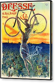 Acrylic Print featuring the photograph Retro Bicycle Ad 1898 by Padre Art