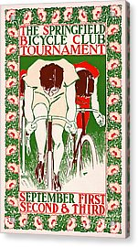 Acrylic Print featuring the photograph Retro Bicycle Poster 1895 by Padre Art