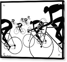 Acrylic Print featuring the photograph Retro Bicycle Silhouettes 1986 by Padre Art