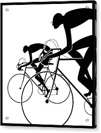 Acrylic Print featuring the photograph Retro Bicycle Silhouettes 2 1986 by Padre Art