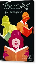Acrylic Print featuring the photograph Retro Books Poster 1929 by Padre Art