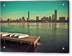 Retro Boston Acrylic Print by Andrew Kubica