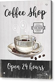 Acrylic Print featuring the painting Retro Coffee Shop 1 by Debbie DeWitt