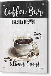 Acrylic Print featuring the painting Retro Coffee Shop 2 by Debbie DeWitt