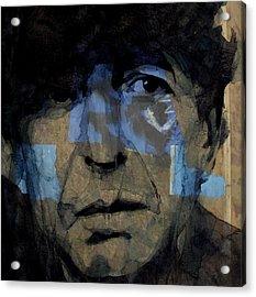 Retro- Famous Blue Raincoat  Acrylic Print