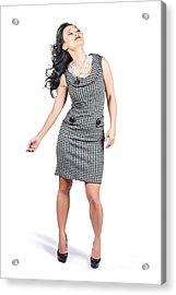 Retro Fashion Beauty. Full Length Portrait Acrylic Print