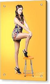 Retro Fashion Image. Woman Posing As A Pin-up Girl Acrylic Print by Jorgo Photography - Wall Art Gallery