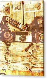 Retro Film Cameras Acrylic Print