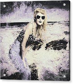 Retro Fine Art Beach Pinup Acrylic Print by Jorgo Photography - Wall Art Gallery