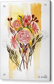 Retro Florals Acrylic Print