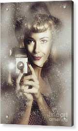 Retro Hollywood Fashion Photographer Acrylic Print