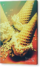 Retro Ice Cream Artwork Acrylic Print by Jorgo Photography - Wall Art Gallery