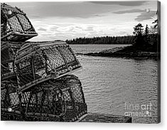 Retro Maine Scene  Acrylic Print by Olivier Le Queinec