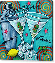 Retro Martini Acrylic Print by Lisa  Lorenz