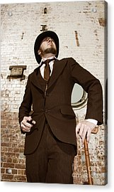 Acrylic Print featuring the photograph Retro Nobel Man by Jorgo Photography - Wall Art Gallery
