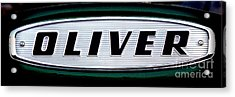 Retro Oliver Tractor Nameplate  Acrylic Print