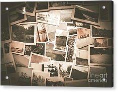 Retro Photo Album Background Acrylic Print