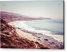 Retro Photo Of Laguna Beach California Acrylic Print by Paul Velgos