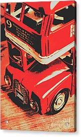 Retro Red Britain Acrylic Print