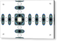 Acrylic Print featuring the digital art Retro Shapes 2 by Fran Riley