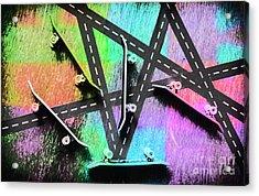Retro Skaters Parade Acrylic Print by Jorgo Photography - Wall Art Gallery