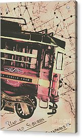 Retro Streets And Urban Trams Acrylic Print
