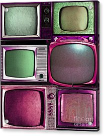 Retro Television Marathon 20150928vertical V2 M68 Acrylic Print by Wingsdomain Art and Photography