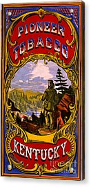 Retro Tobacco Label 1868 D Acrylic Print by Padre Art