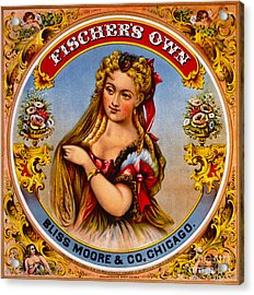 Retro Tobacco Label 1872 A Acrylic Print by Padre Art