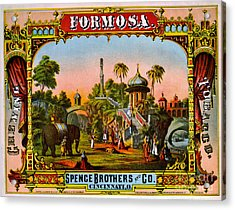 Retro Tobacco Label 1872 C Acrylic Print by Padre Art