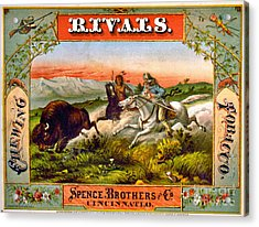 Acrylic Print featuring the photograph Retro Tobacco Label 1872 D by Padre Art