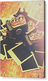 Retro Twin Lens Reflex Cameras Acrylic Print by Jorgo Photography - Wall Art Gallery